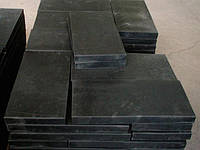 Армированная резина на отвал снегоуборочной техники (лемех отвала, скребок, пластина) 1000x250x40 мм