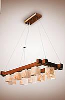 Люстра деревянная на тросах в большую комнату в стиле модерн 4310