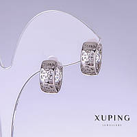 Серьги Xuping L-14мм s-6мм родий 18к