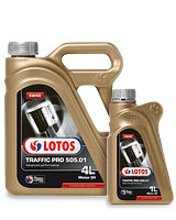 Синтетическое масло LOTOS TRAFFIC PRO 505.01 SM/CF 5W40 - Thermal Control ✔ 1л.