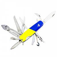Нож Ego A01.12, синежелтый, фото 1