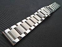 Браслет для часов из нержавеющей стали 316L, литой, мат/глянец. 20 мм, фото 1