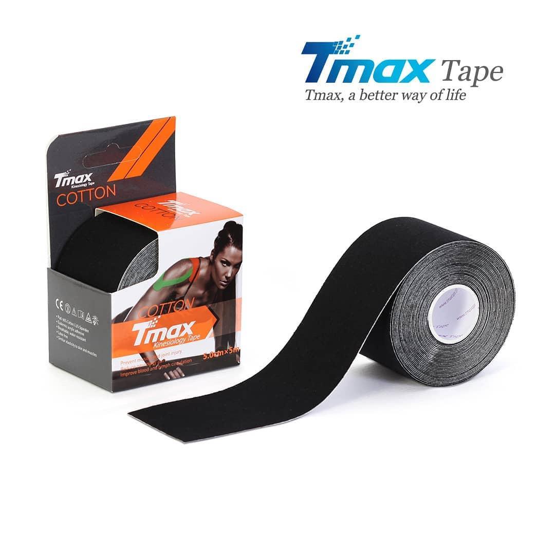 Кинезио тейп Tmax Cotton Tape X 5cm 5m (чорний)