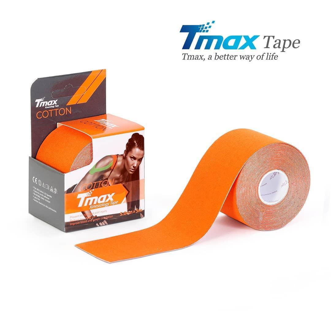 Кинезио тейп Tmax Cotton Tape X 5cm 5m (помаранчевий)