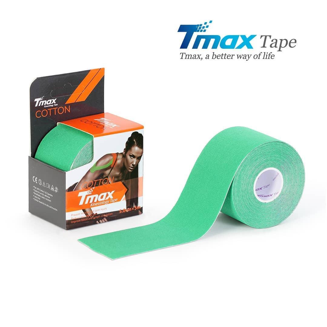 Кинезио тейп Tmax Cotton Tape X 5cm 5m (зелений)