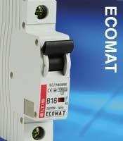 Автоматический выключатель ECOMAT 6,10,20,25А 1P 10kA кат. С