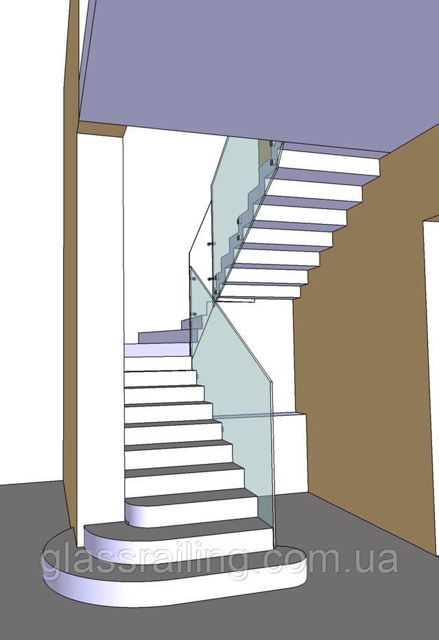 Проект ограждения лестницы