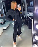 Модный черный вязаный костюм, фото 1