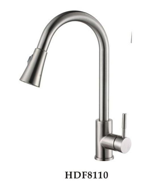 Смеситель для кухни с переключением воды Falanco HDF 8110 нержавеющая сталь
