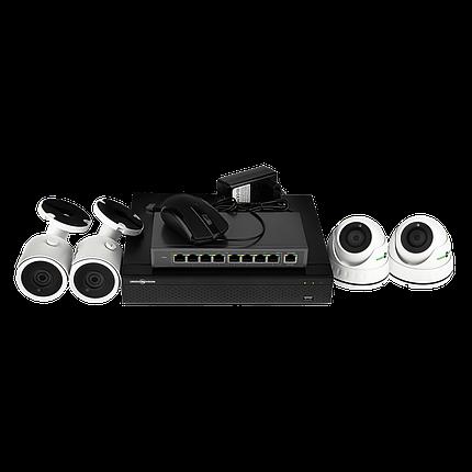 Комплект видеонаблюдения Green Vision GV-IP-K-L27/04 1080P, фото 2