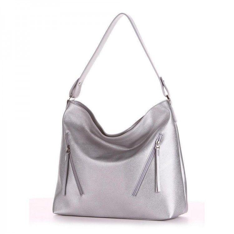 301b55387d9d Вместительная серебряная сумка на плечо Alba Soboni арт. 130237 -  BagShop.ua интернет-