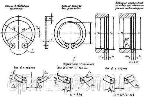 Стопорные кольца внутренние гост 7 мм