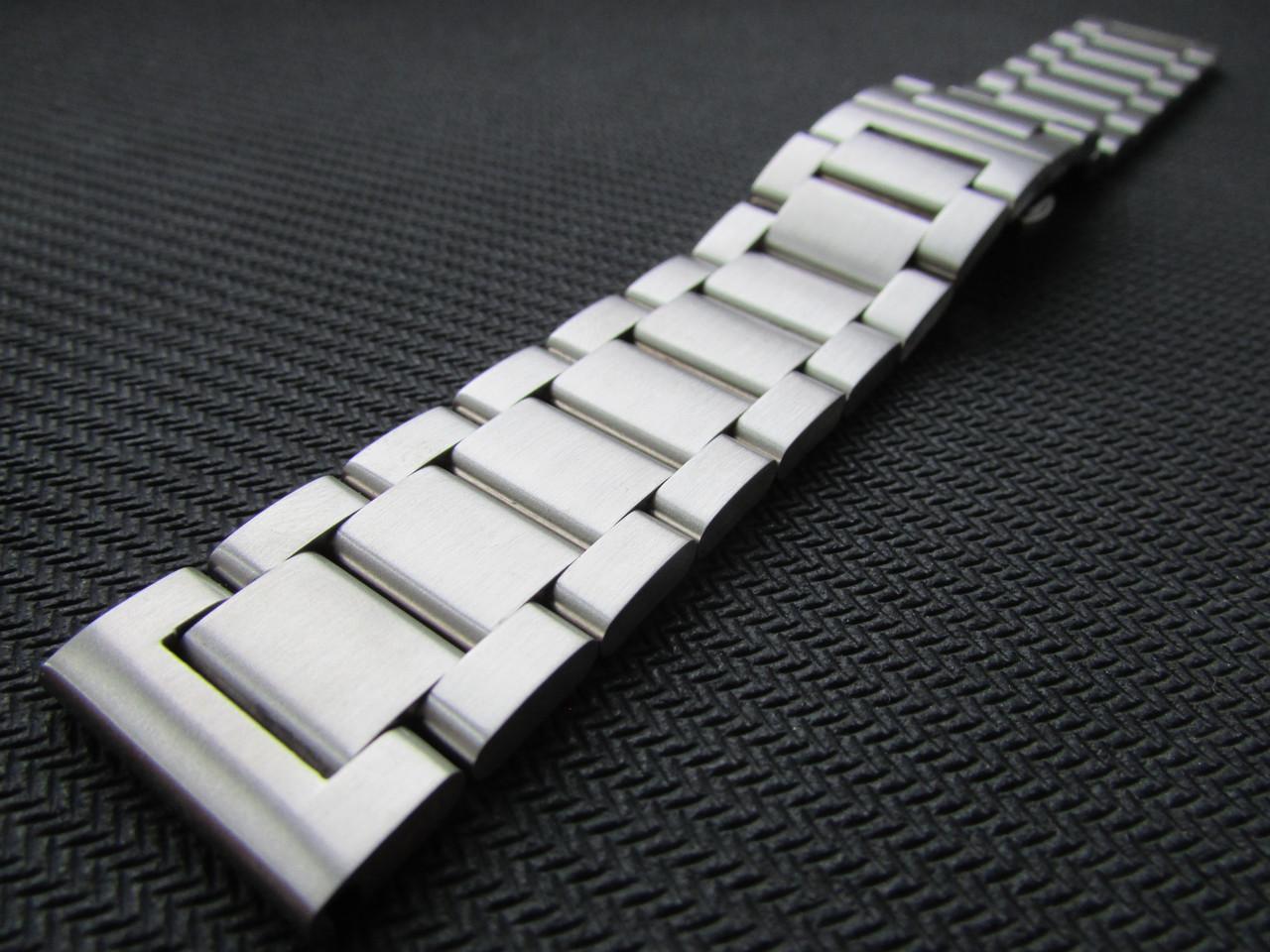 Браслет для часов из нержавеющей стали 316L, литой, мат. 20 мм