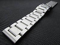 Браслет для часов из нержавеющей стали 316L, литой, мат. 20 мм, фото 1