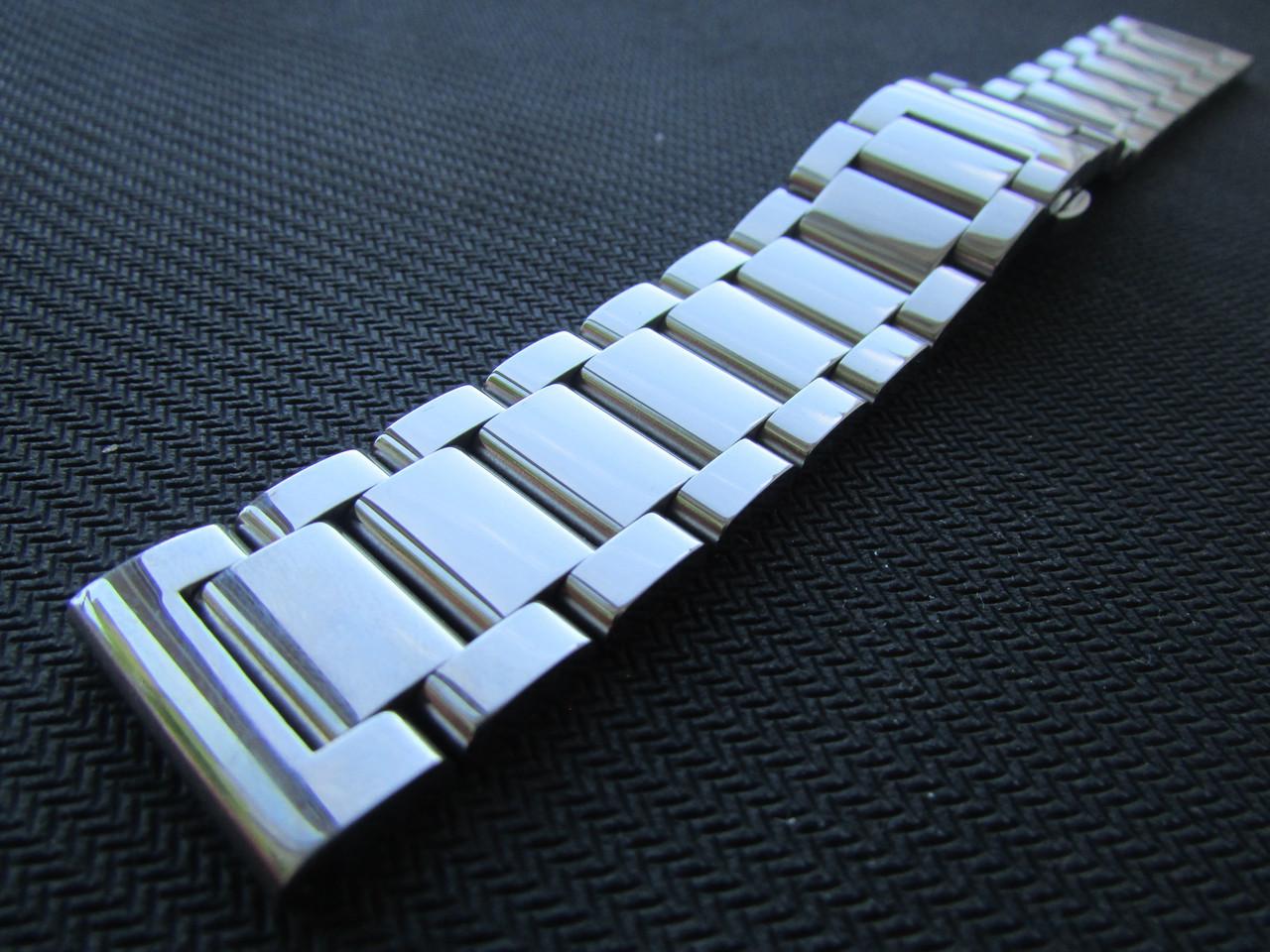 Браслет для часов из нержавеющей ювелирной стали 316L, литой, глянец. 21 мм