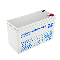 Аккумулятор мультигелевый AGM LogicPower LPM-MG 12 - 7,5 AH