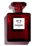 Chanel N5 L'Eau Red Edition парфюмированная вода 100 ml. (Шанель №5 Л'Еау Ред Эдишн)