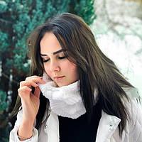 Авторский вязаный шарф - снуд - хомут. Цвет  снежно - белый 8fe35eb1e4168