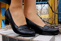 Туфли женские черные каблук