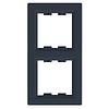 Рамка двухпостовая вертикальная Schneider Electric Asfora Антрацит
