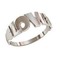 Кольцо  женское серебряное Love
