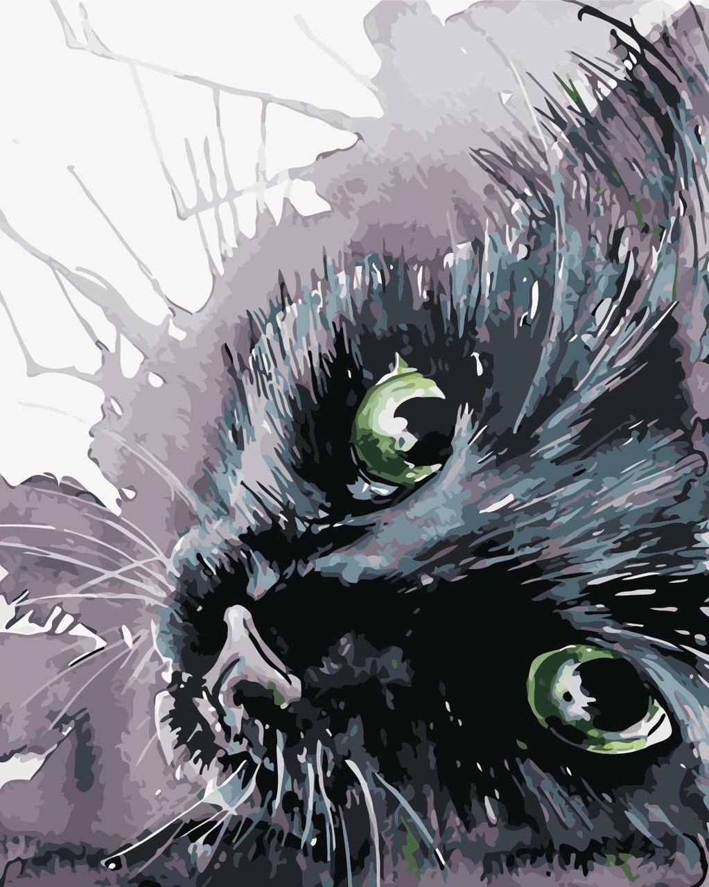 Художественный творческий набор, картина по номерам Чёрный кот, 40x50 см, «Art Story» (AS0416)