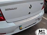 Накладка на задний бампер с загибом Renault Logan III