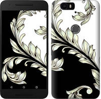 """Чехол на Huawei Nexus 6P White and black 1 """"2805c-148-676"""""""
