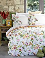 Набор постельное белье с покрывалом пике karaca home - paradise orange 2018-2 jacquard полуторное оранжевый #S/H