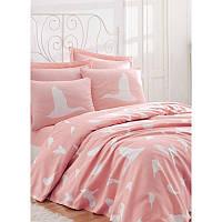 Летнее постельное белье eponj home - enya pudra пудра евро #S/H