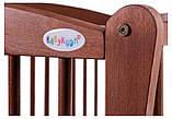 Кровать Babyroom Еліт резьба маятник, ящик, откидной бок DER-7  бук тик, фото 7
