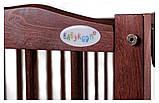 Ліжко Babyroom Веселка маятник, відкидний пліч DVMO-2 бук тік, фото 5