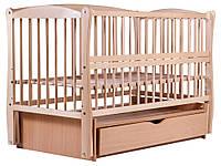 Кровать Babyroom Еліт маятник, ящик, откидной бок DEMYO-5  бук светлый (натуральный), фото 1
