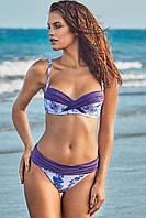Большой купальник для женщин с цветами Miss Marea 19433 48 Сиреневый MissMarea 19433