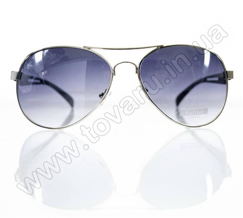 Очки унисекс солнцезащитные - Armani - Серебряно-черные - 1606, фото 2