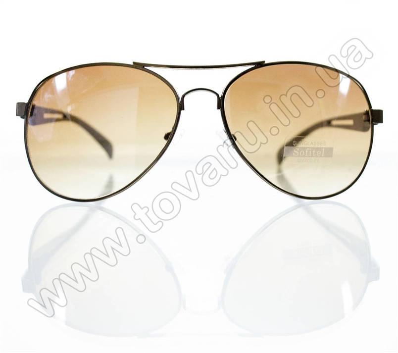 Оптом Очки унисекс солнцезащитные - Armani - Коричневые - 1606, фото 2