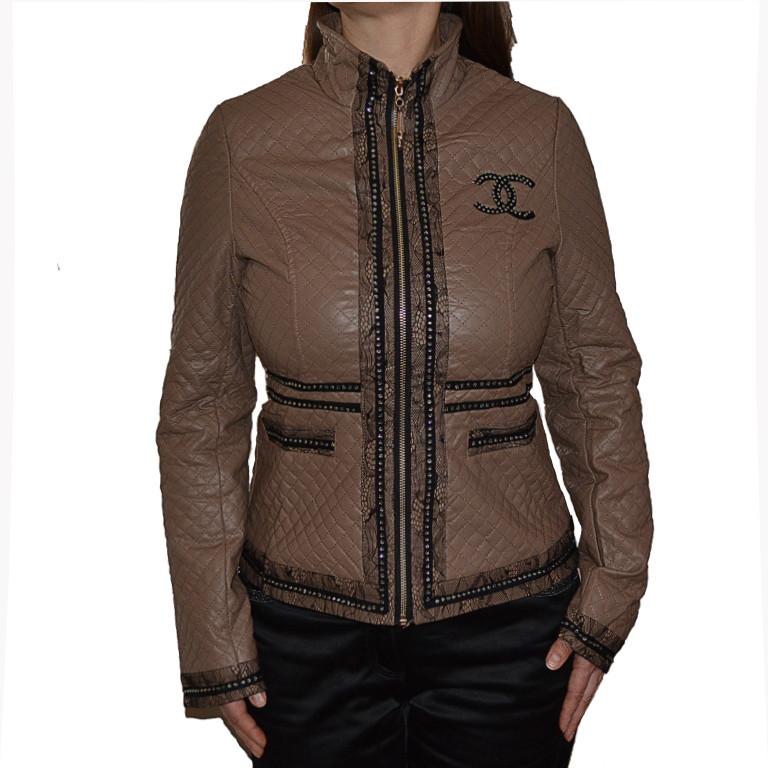 Женская стеганая куртка р 48