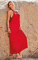 Красное женское пляжное платье Amarea 19108 44(M) Красный Amarea 19108