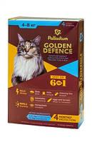 Капли на холку Золотая защита Palladium Палладиум для кошек 4-8кг, 1 пипетка 1 мг