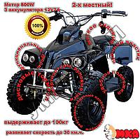 Детский железный квадроцикл Profi HB-6 EATV800C-2, 4 фары, черный