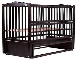 Ліжко Babyroom Веселка маятник, відкидний пліч DVMO-2 бук венге