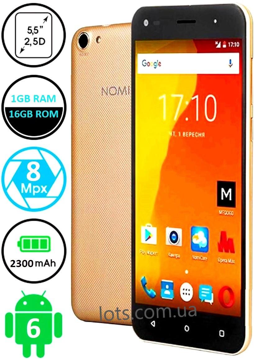 Смартфон Nomi i5530 1/16Gb Gold Камера 8/2 МП