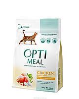 Корм Optimeal для кошек с курицей, 10 кг kt017