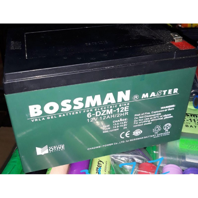 Аккумулятор Bossman Master 12v 12Ah/20HR 6-DZM-12E 151х98х95 мм