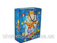 Подарочные пакеты детские 32х26х10 см микс