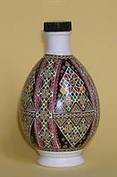 """Писанка """"Прикарпатье 2"""", графин (бутылка), фарфор, 0,25л, украинский сувенир"""