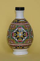 "Писанка ""Чудесная"", графин (бутылка), фарфор, 0,25л, украинский сувенир, фото 1"