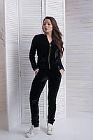 Женский спортивный костюм велюровый черный И Г