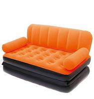 Надувной диван-трансформер 5 в 1 BestWay 67356 Оранжевый Comfort (Air-O-Space) (188x152x64) + насос 220V.