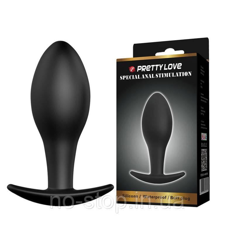 Анальная пробка - Pretty Love Round Anal Butt Plug Black